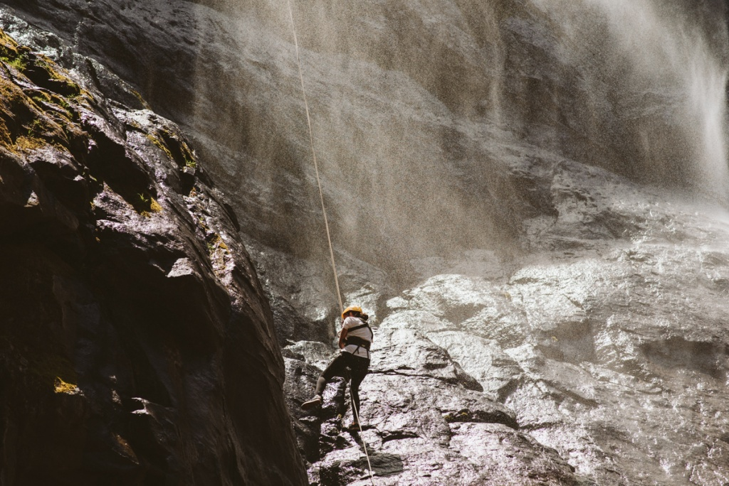 World Record Abseil Maletsunyane Falls, Semonkong Lodge in Lesotho