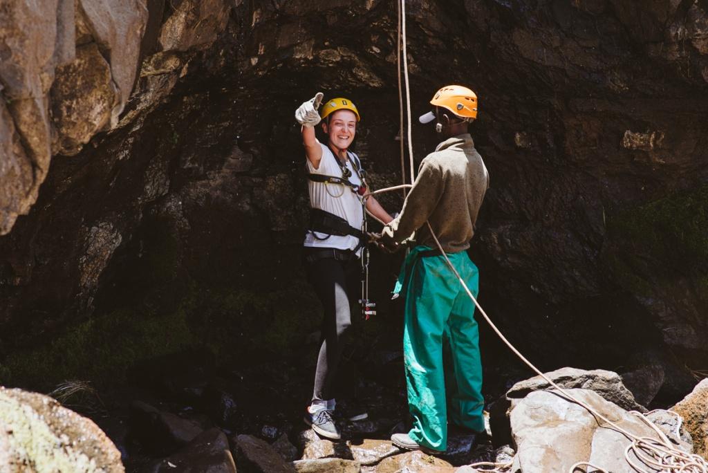 World Record abseil off Maletsunyane Falls, Semonkong Lodge, Lesotho